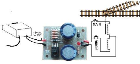 capacitor discharge circuit model railway 75 model railway project