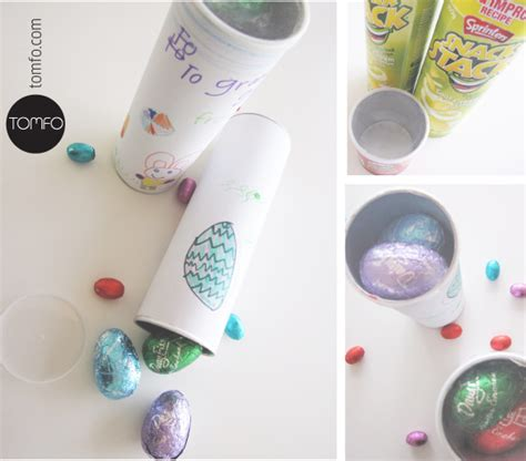 easter crafts using recycled pringles cans repurpose art