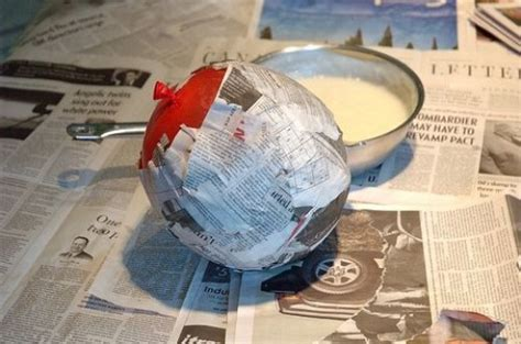 How To Make Paper Mache With Cornstarch - paper mache decorations and props