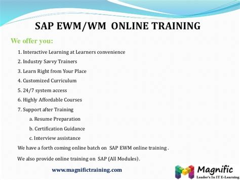 tutorial sap wm sap wm courses online sap wm certification training in