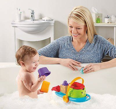 fisher price bath toy boat fisher price stackin tubtime boat bath toy