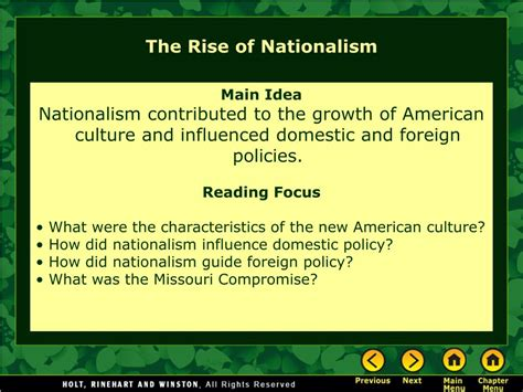 nationalism and sectionalism powerpoint ppt chapter 7 from nationalism to sectionalism