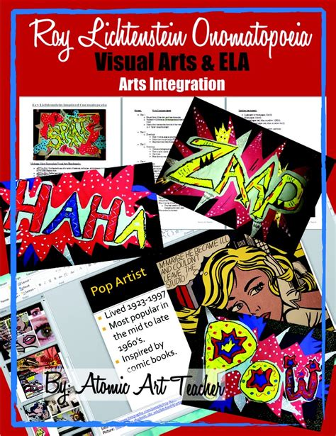 Visual Onomatopoeia by Lichtenstein Onomatopoeia Visual Arts Project Ela Arts