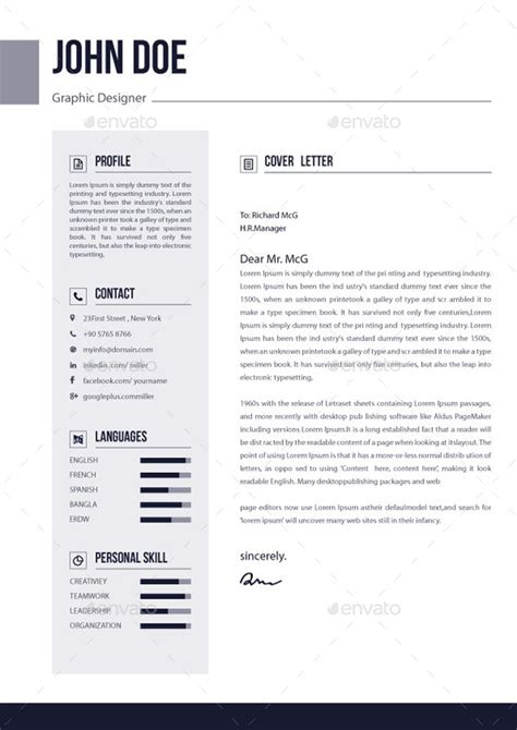3 Page Resume by 3 Pages Resume Cv V 02 By Elitegraphic Graphicriver