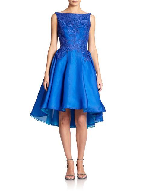 Organza Silk lyst ml lhuillier silk organza boatneck dress in blue