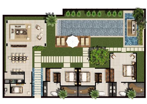 villa floor plans 3 5 bedroom family villa floor plan chandra bali villas