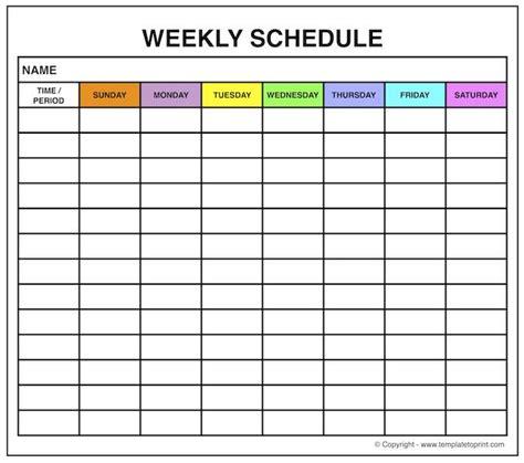 printable planner maker blank weekly template printable free weekly schedule