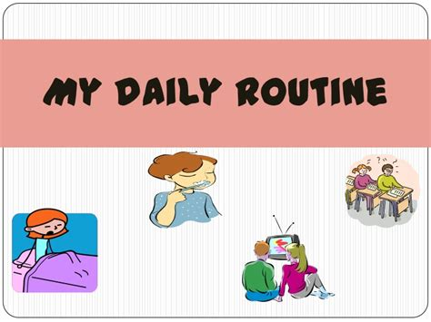 daily with a my daily routine 1