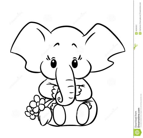 coloring page for elephant baby elephant coloring pages to download and print for free