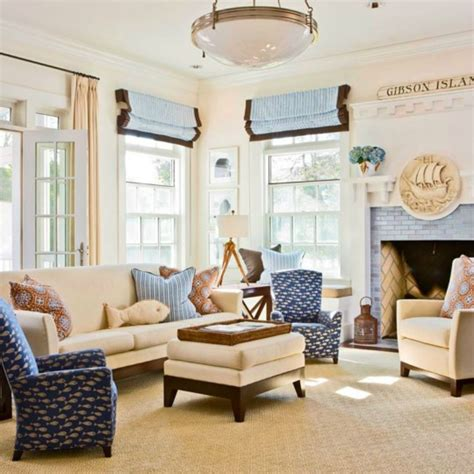 Decorating Ideas Nautical Living Room Inspirations On The Horizon Coastal Rooms With Nautical
