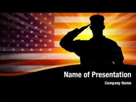 united states army powerpoint video template backgrounds