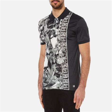 versace collection s patterned polo shirt with