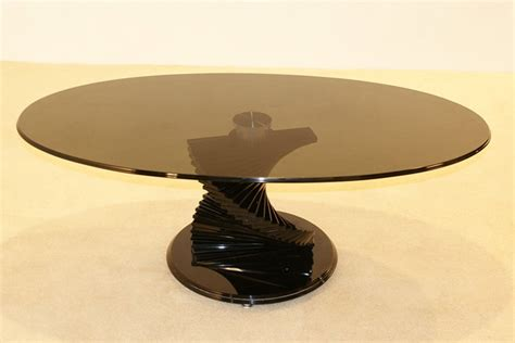 Swirl Black Glass Coffee Table Hl272 Swirl Glass Coffee Table