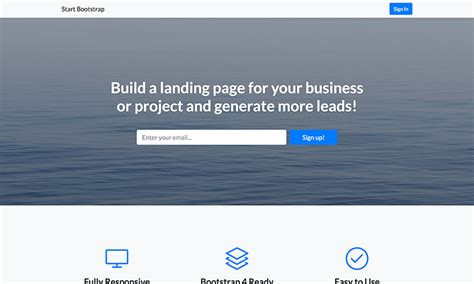 free bootstrap landing page themes start bootstrap