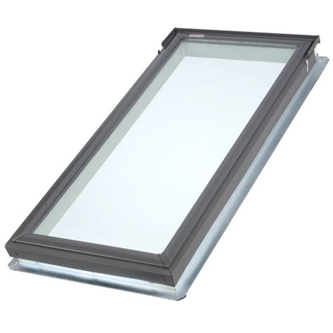 store velux 279 velux 21 in x 45 3 4 in fixed deck mount skylight with