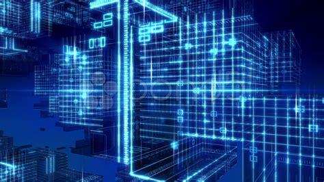 computing square footage digital computer grid matrix technology background