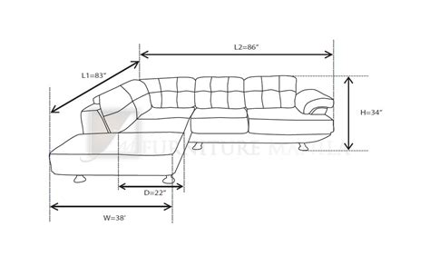 dimensions of a sofa furniture manila