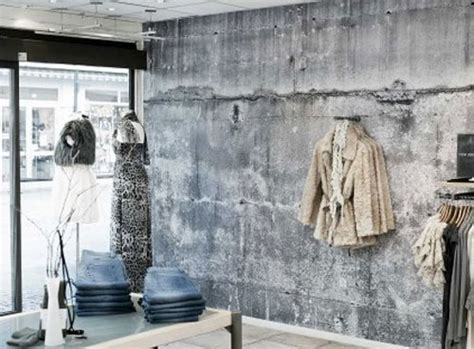 how to paint a faux concrete wall the wall sell faux concrete wallpaper labors to