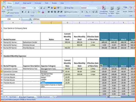 Rent Collection Spreadsheet Template 7 Rent Collection Spreadsheet Excel Spreadsheets Group