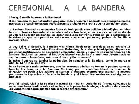 un escrito sobre la bandera guia para preparar ceremonias civicas