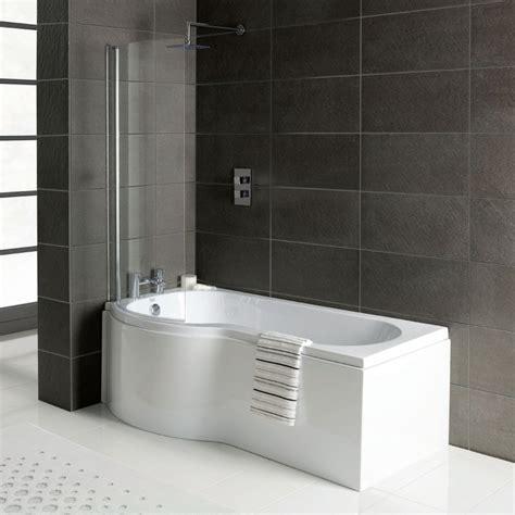 p shaped shower bath     screen  panel