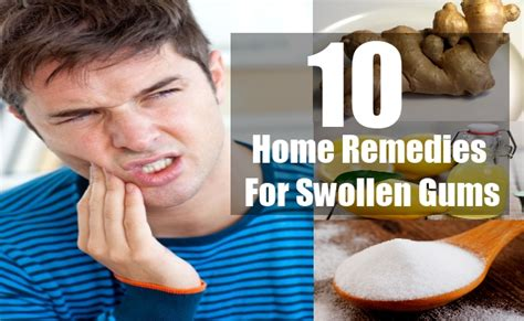 home remedies swollen gum