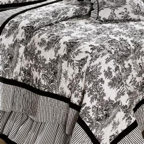 black toile bedding toile de jouy cotton quilt bedding