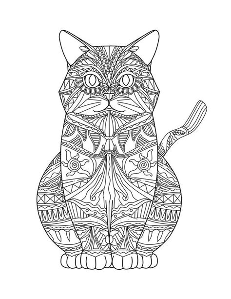 adult coloring pages cat 1 coloring pages pinterest mandala para colorear aztec cat ॐ mandalas y m 193 s ॐ
