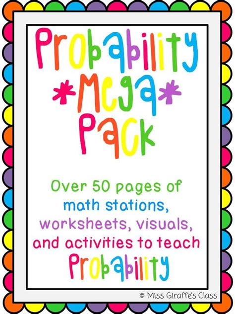 printable probability games printable probability games for 3rd grade activities