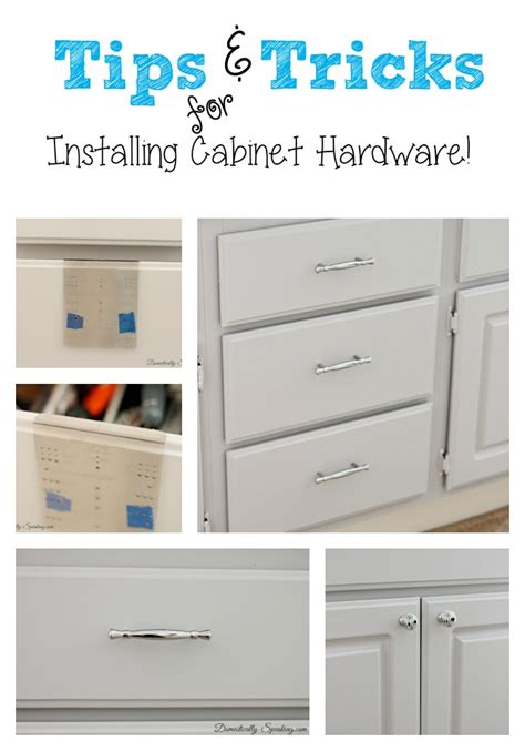 How To Install Knobs On Kitchen Cabinets by Installing Cabinet Hardware The Easy Way Domestically