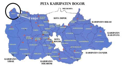 kecamatan tenjo  peta kabupaten bogor blogger tenjo