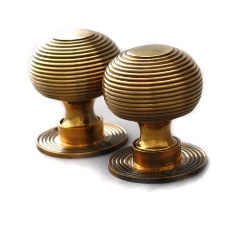 Period Door Knobs by Period Solid Brass Reeded Beehive Door Knob