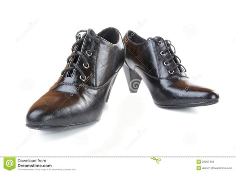 Shoe Unlimited Sr 5003 Black pair of black shoes royalty free stock photos image 20967448