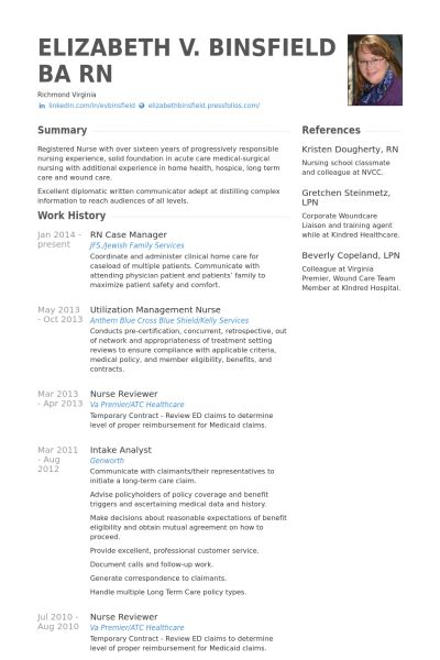 rn case manager resume sles visualcv resume sles