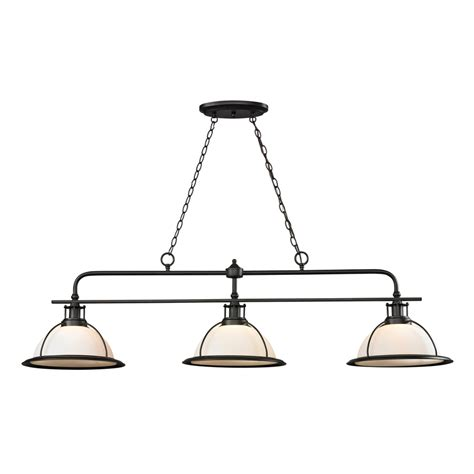 Bronze Kitchen Light Fixtures Shop Westmore Lighting Corkshire Rubbed Bronze Pool Table Lighting At Lowes
