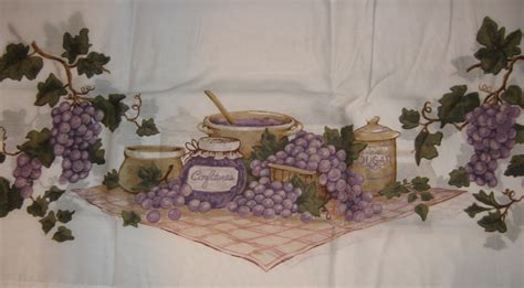 grape kitchen items pc grape vines kitchen curtain set