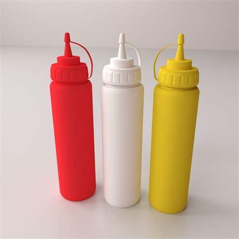 Sauce Bottle sauce bottles 3d model 3ds fbx blend dae cgtrader
