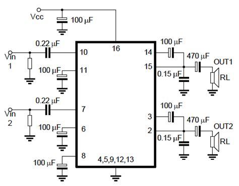 Ic Tea2025b Tea 2025 B Tea2025 stereo audio lifier using tea2025 chip embedded lab