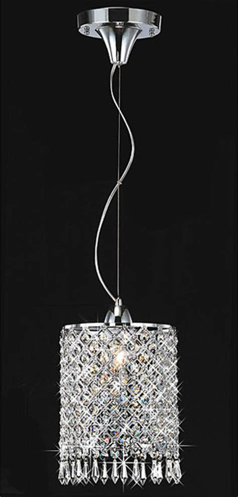chrome 1 light mini pendant chandelier