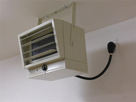 install electric garage heater