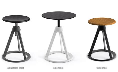 Adjustable Stool by Barber Osgerby Piton Adjustable Stool Hivemodern