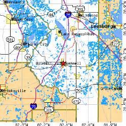 bushnell florida fl population data races housing