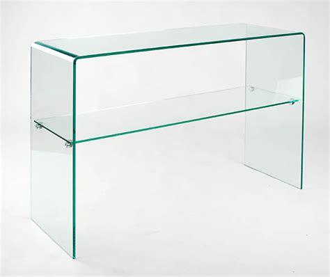 all glass console table all glass console table with shelf