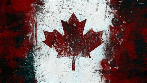 cool wallpaper canada canadian flag with paint drops wallpaper digital art