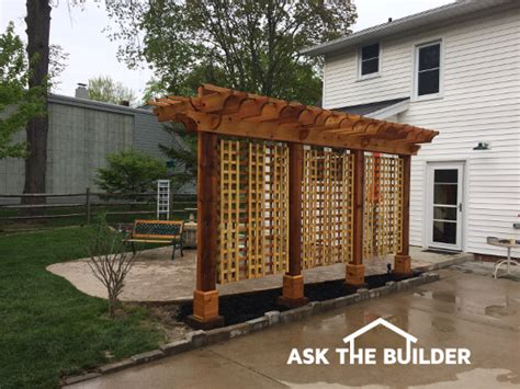 materials needed to build a pergola pergola ideas for small patios ask the builder