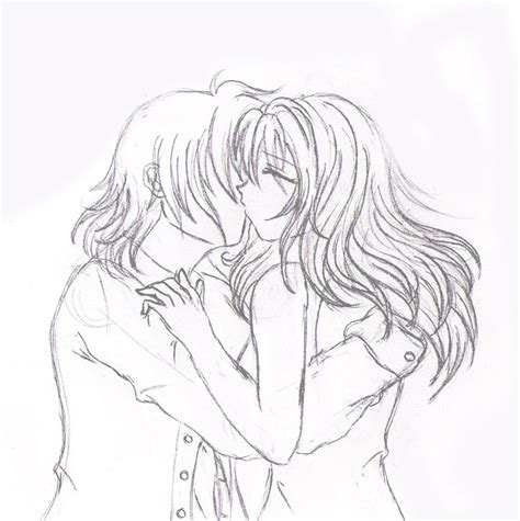 anime couples kissing sketches 5 sketch kissing