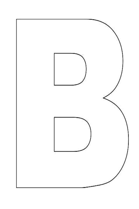 free letter templates alphabet letter b template for jpg 1600 215 2400