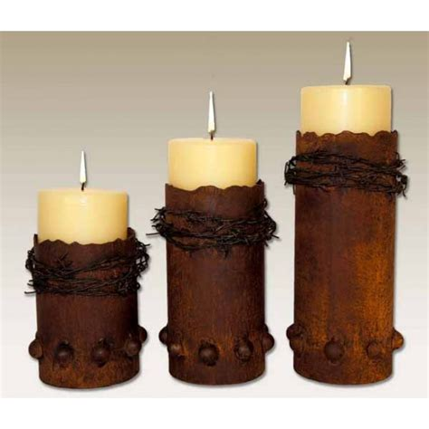Rustic Candle Holders by Barbed Wire Candle Holders Rustic Western Decor
