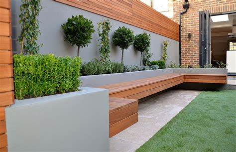 modern garden design ideas great lighting fireplace hardwood screen plastered rendered walls
