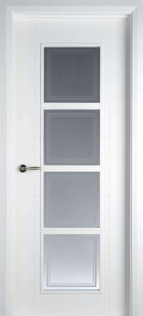 Interior Glass Doors White Iseo 4 Lite White Primed Pre Glazed 40mm Doors Contemporary Doors